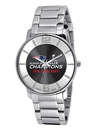 Game Time Unisex NFL-AP-SEACH15 Super Bowl XLIX Analog-Anzeige, japanisches Quarzuhrwerk, silberfarben
