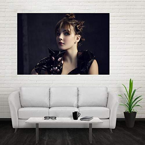 NOVELOVE Póster de la Estrella de la Actriz Lienzo Pintura Arte Cuadros de Pared Impresiones Mural decoración del hogar sin Marco (50 * 75 cm)