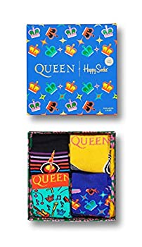 Happy Socks x Queen Kids Gift Box 4 Pairs of Crew Socks  Bright Combo 12-24 Months