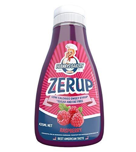 Frankys Bakery ZerUP - Amerikanischer Sirup Dessersauce Diät Ernährung Kalorienarm - 425ml (Strawberry-Erdbeere)