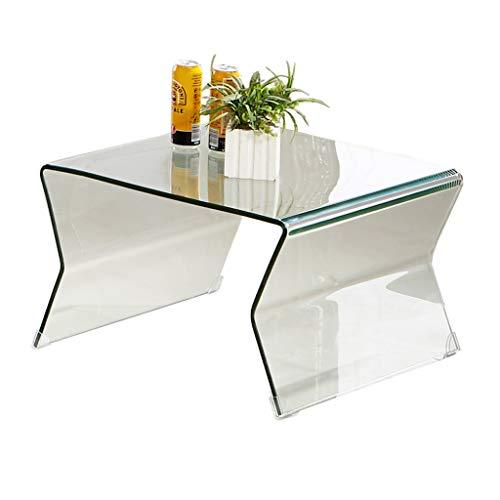 Koffietafelhoek, Klein, Modern Minimalistische Bijzettafel, Glazen Vierkant XINYALAMP