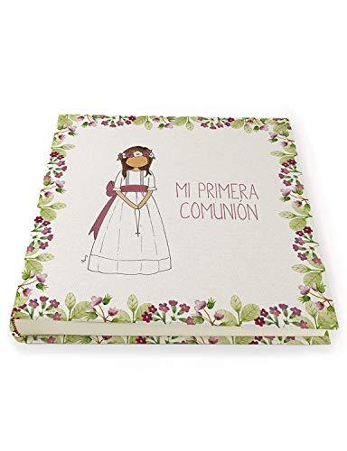 CUADRIMAN | Álbum de Fotos Comunión para Niños y Niñas | Libro para pegar fotos con distintos diseños | 30 x 30 cm | Recuerdo de comunión