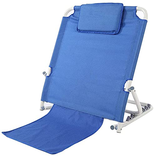 Adjustable Sit-up Back Rest Inclined Angle 30° to 80° Head Lumbar Support Portable Folding Stainless Steel Disability Backrest Bed Support Beach Travel Lounge 32.68 x 14.37 x 26.57 inch