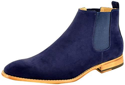 "Lässige Herren-Chelsea-Boots Typ ""Chukka Desert"", ledergefüttert, Blau - marineblau - Größe: 46 EU"