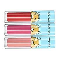 3本 人気色セット 液体口紅 リップグロス カラーメイク 可愛い ギフト 4タイプ選べ - B