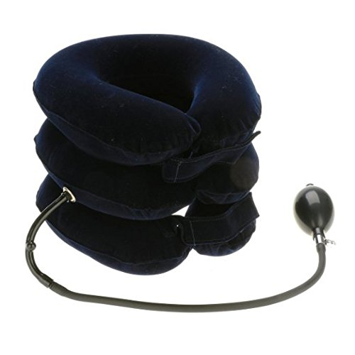 Glield Soft Air-Pressure Cervical Neck Traction Device Shoulder, Back, Spine,Cervical Pain Relief QYQ01 (Blue)