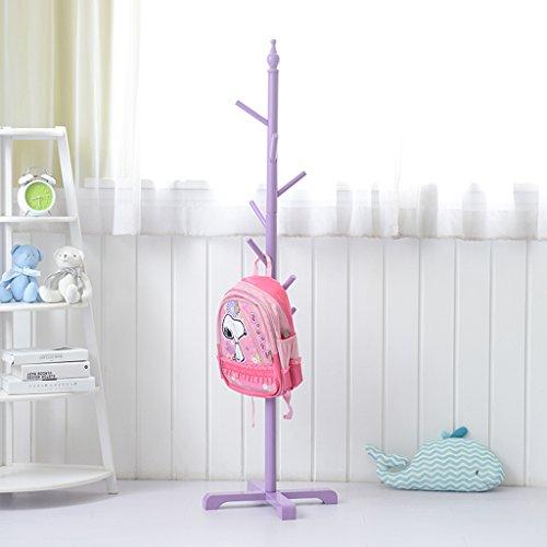 Kleiderablage Kreative Kinder Massivholz Boden Kleider Kleiderständer Hut Kleiderbügel (Farbe : Pink)