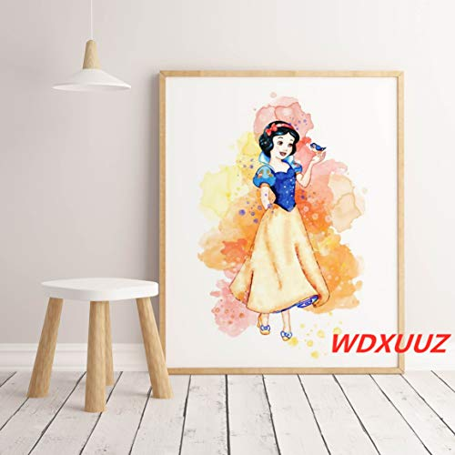 Prinses prinses aquarel poster in het spel anime sprookje hight kwaliteit canvas schilderij Decor Art Decor_40x60cm