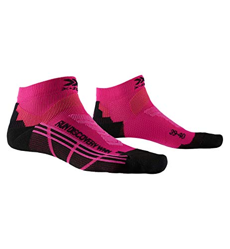 X-Socks Damen Socks Run Discovery Women, Flamingo Pink/Opal Black, 39-40, XS-RS18S19W-P043-39/40