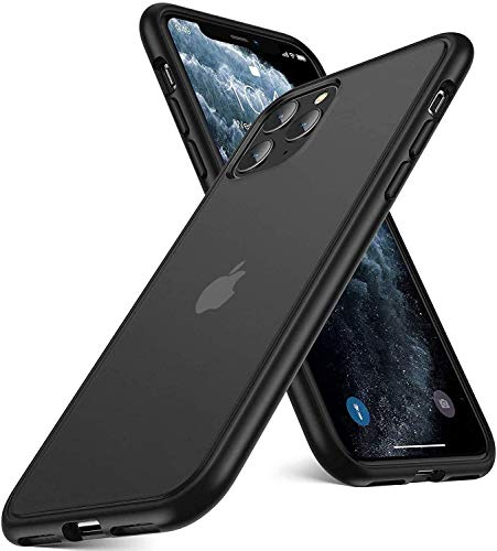 Humixx Shockproof Series iPhone 11 Pro Max Case [Military Grade Drop Protection] [Semi-Clear Upgraded Nano Material] Translucent Matte Hard PC with Soft Edges, Slim Non-Slip Phone Cover, Frost Black