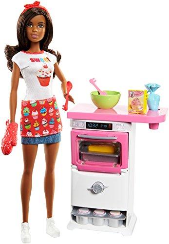 Barbie FLN97 Bakery Chef Brunette Fashion Doll Playset, Multi, N.A