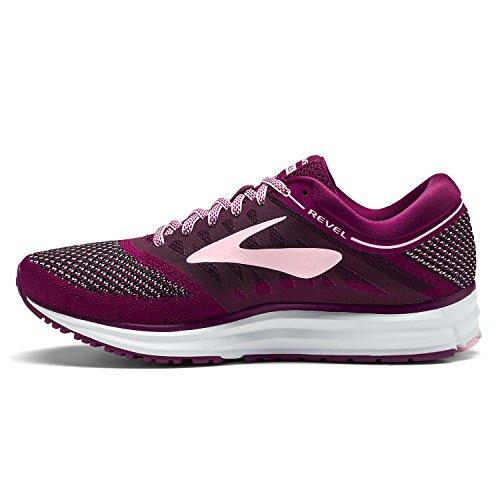 Brooks Revel, Zapatillas de Running para Mujer, Morado (Plum/Pink/Black 1b598), 37.5 EU