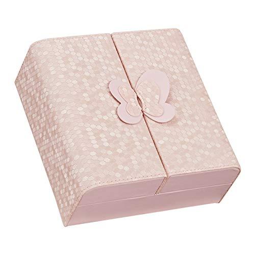 Caja Joyero Estuche de almacenamiento pequeñas joyas caja de joyería caso del recorrido de la caja portable sintético joyería cuero de la PU Organizador Mini joyería for mujeres y niñas Jewelry Organi
