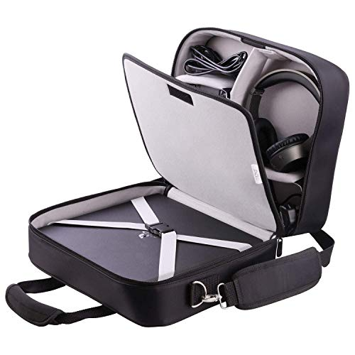 Xbox Carrying Case Compatible with Xbox 360/ Xbox One/ Xbox One X/S Large Capacity Xbox Travel Case for Xbox Game Console and Wireless Controllers, with Padded Shoulder Strap - Fits All Xbox Models