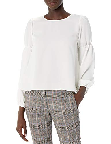 Armani Exchange A|X Damen Flowing Scoop Neck Top with Peasant Sleeves Hemd, Martini, X-Groß