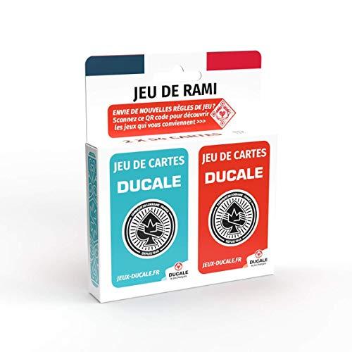 Ducale, le jeu Français - Jeu de Rami 2 x 54 Cartes - Jeu de Rami, Canasta, 64, Crapette