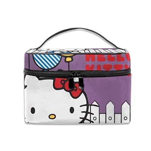 Sac cosmétique Hello Kitty détient Un Ballon Portable Sac de Maquillage de Voyage Organisateur de cosmétiques Sacs de Toilette Multifonctions étui de Rangement