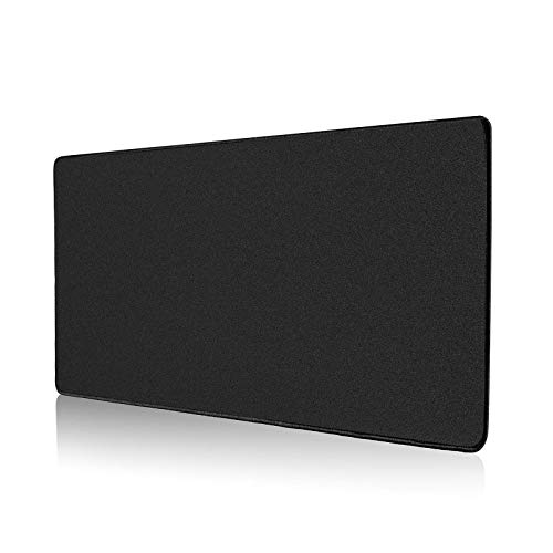ALOANES Large Gaming Mouse Pad with Non-Slip Rubber Base,Stitched Edge,Desk mat for Laptop,Computer & PC, Wristing Pad for Gamer,Office & Home,Classic Black XXL