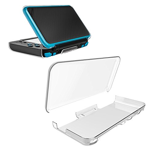 MoKo Hard Shell Case for Nintendo New 2DS XL, Anti-Scratch Crystal Clear Protective Skin Cover for Nintendo New 2DS XL (2017)