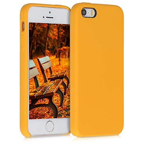 kwmobile Custodia Compatibile con Apple iPhone SE (1.Gen 2016)   5   5S - Cover in Silicone TPU - Back Case per Smartphone - Protezione Gommata Giallo Zafferano