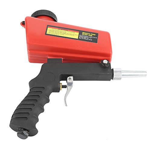 Pistola de chorro de arena industrial, boquilla extraíble, válvula de control de flujo de tolva duradera, chorro de arena neumático de metal y plástico para eliminar la escala de pintura oxidada