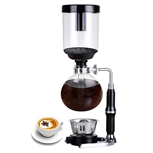 Kaffeebereiter, Kaffee Syphon Tabletop Syphon (Syphon) Kaffeemaschine, japanische Art Syphon Kaffeemaschine Tee Syphon Topf Vakuum Kaffeemaschine Glasart Kaffeemaschine Filter, 3 Tassen, Französische