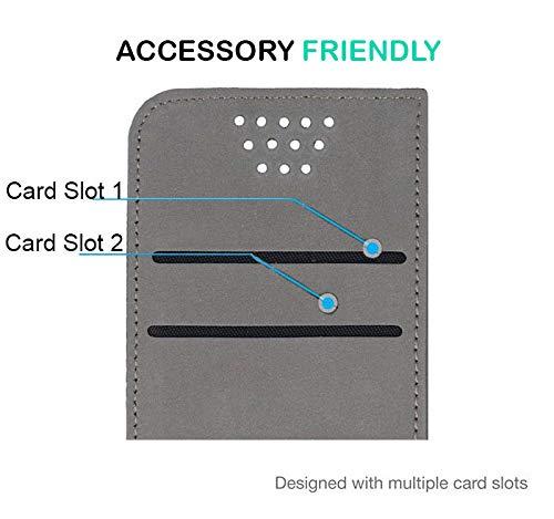 UltraProtection Schutztasche für Huawei Ascend Y200 Tasche, Schutz-Hülle, Handytasche, Wallet Cover Case, Handy Etui in Schwarz - 2