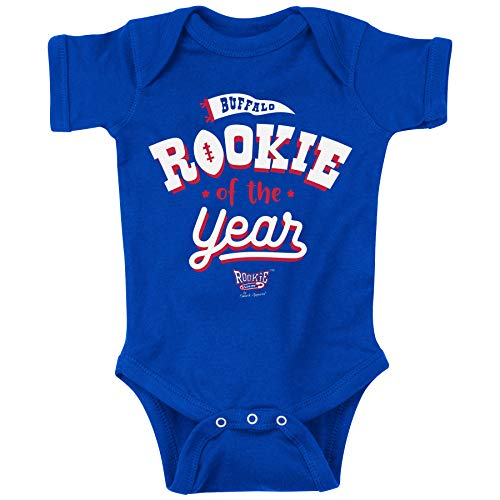 Buffalo Football Fans. Rookie of The Year Royal Onesie or Toddler Tee (NB-18M) (Onesie, 6 Month)