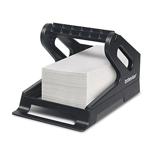 Trohestar Thermal Label Holder for Rolls and Fanfold Labels Work with Desktop Label Printer (Black)