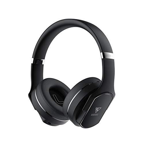 [Neuestes Modell] LQIAN DOQAUS Bluetooth-Kopfhörer über dem Ohr, Over-Ear-Kopfhörer mit kraftvollem Bass-Sound, 22 Stunden Spielzeit, Over-Ear-Stereo-Klapp-Headset und Lautsprecher (Schwarz)