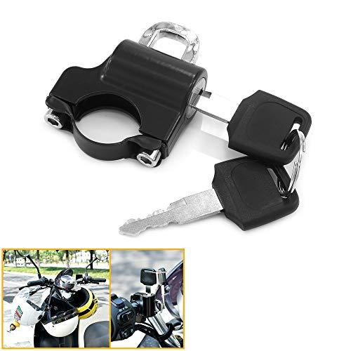Heinmo - Bloqueo antirrobo Universal para Motocicleta, Bloqueo de Seguridad para Casco para Yama 'Hon' Kawa 'Dirt Bike Ves pa, Tubo de Manillar de 7/8'22 mm, con 2 Llaves
