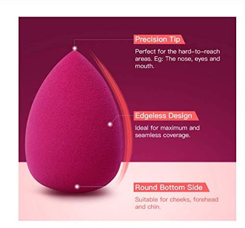 KUSAWE Éponge de maquillage 2PCS Black Beauty Makeup Applicator Super Soft Sponge Powder Blender Smooth Foundation Contour Blending Puff Q
