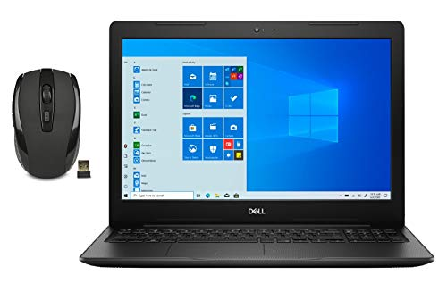 Dell Inspiron 15 Touchscreen HD Laptop Bundle Woov Wireless Mouse | 10th Gen Intel Core i7-1065G7 | 16GB RAM | 512 SSD+1TB HDD | WiFi | Bluetooth | Windows 10 Home | Black