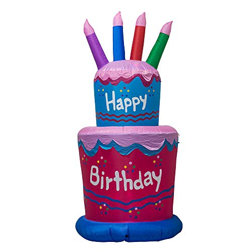TRMESIA Inflatable 6FT Giant Birthday Cake, Suitable for Birthday Party Home Garden Decoration,Blow...