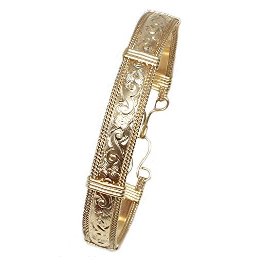 Handmade Designer Gold Bracelet for Women, Real 14k Gold Filled Bangle