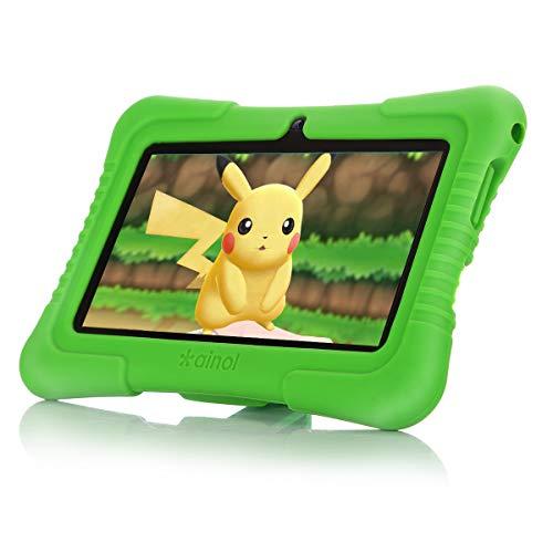 Ainol [Nuevo] Q88a(Tablet para nios con WiFi de 7 Pulgadas,Tablet Infantil de Android 8.1, Regalo para nios,Quad Core 1GB+8GB,Soporta Tarjeta TF 64GBDoble cmara,Juegos educativos) Rojo