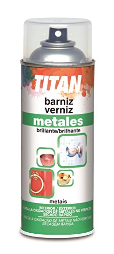Titan M47811 - Barniz para metales 400 ml spray