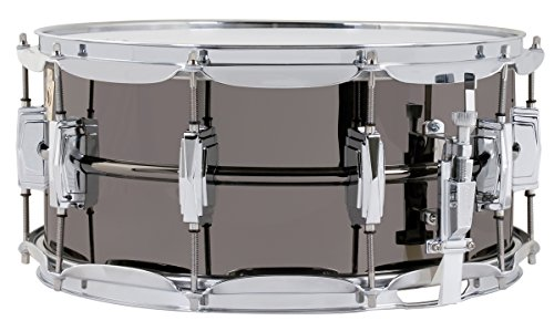 "Ludwig LB417 Black Beauty 6.5"" x 14"" Smooth Brass Snare Drum with Imperial Lugs"