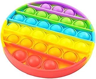 لعبة فقاعات حسية بشكل قوس قزح لتخفيف التوتر لذوي الاحتياجات الخاصة ومرضى التوحد (شكل دائري)