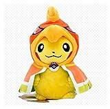 LHAHGLY Pokemon Pikachu Soft Peluche Peluche Mini Oreiller Poupée Meubles de Maison Peluches poupées Les Meilleurs Cadeaux d'anniversaire pour Enfants 23cm Jouets Doux Pikachu