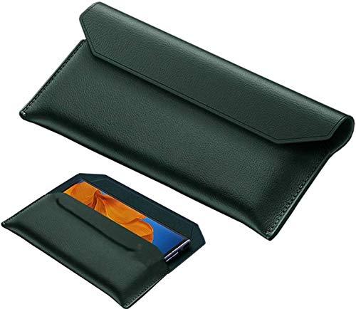 FanTing Premium Ledertasche Hülle für Samsung Galaxy Z Fold 2, magnetische Flip Cover Hülle, Umschlag Aussehen magnetische echte Ledertasche, Hülle für Samsung Galaxy Z Fold 2.Grün
