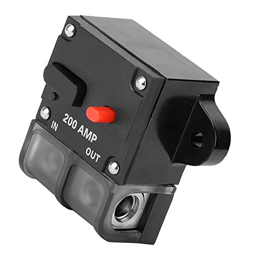 KSTE Inline Sicherung 200A, 12-42 VDC Heavy Duty Car Auto-Reset Inline Circuit Breaker Self-Recovery-Sicherung (200A)