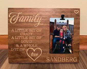 Free Brand Signo de la familia, signo personalizado de la familia, signo de la imagen de la familia, signo de madera personalizado