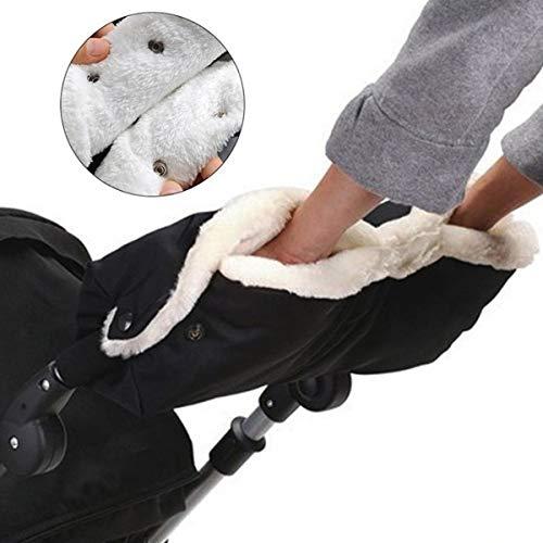 Guantes para cochecito de bebé, guantes de mano para cochecito de bebé,anticongelantes, extra gruesos, aptos para la mayoría de los cochecitos y carritos individuales compatibles