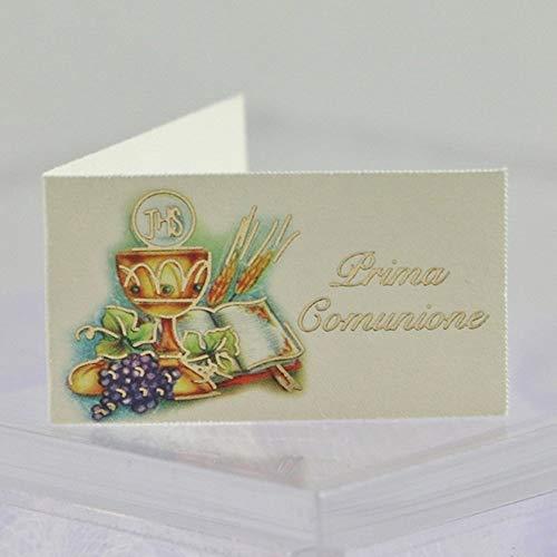 Mentor Interactive 20 BIGLIETTINI BOMBONIERA Comunione con Calice UVA SPIGHE E Scritta Oro