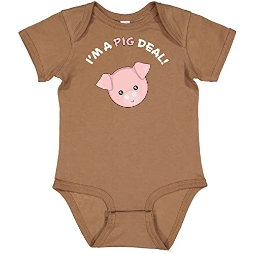inktastic I'm a Pig Deal Cute Pig Pun Infant Creeper 6 Months Coyote Brown 29b8e