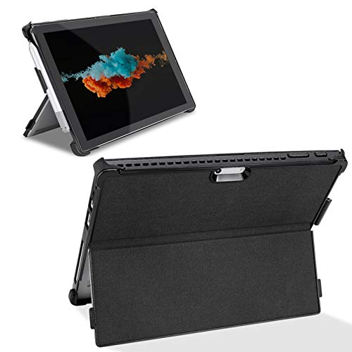 LIMICAR Microsoft Surface Pro Case, Surface Pro Case for Pro 7 / Pro 6 / Pro 5 / Pro 4 / Pro 2017, Multiple Angle Viewing Protective Cover Microsoft Surface Pro 7 Case with Pen Holder - Black