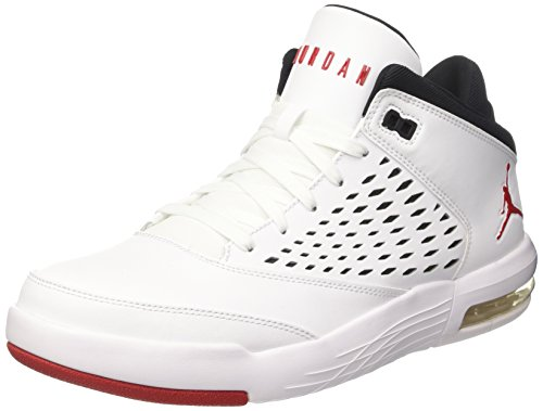 Nike Jordan Flight Orgin 4, Chaussures de Basketball Homme, Blanc Cassé (White/Gym Red/Black), 45 EU