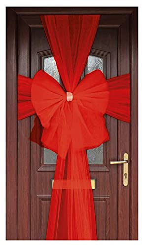 WickedFun LUXURY DOOR BOW DECORATION XMAS BABY SHOWER BIRTHDAY WEDDING PARTY (Silver)