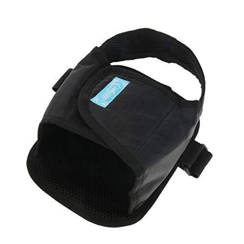 Baoblaze 1 Stück Rollstuhl Sicherheit Transport Fußstütze Beinstütze Gurt Gürtel Schuhe für ältere oder behinderte Patienten - Schwarz